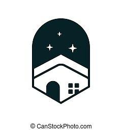 Night Star House Frame