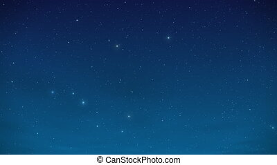 Night star sky with constellations and sparkling shimmering ...