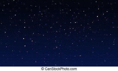 Night starry sky, dark blue space background with stars