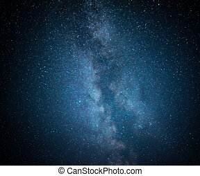 Night starry sky. Milky Way galaxy.
