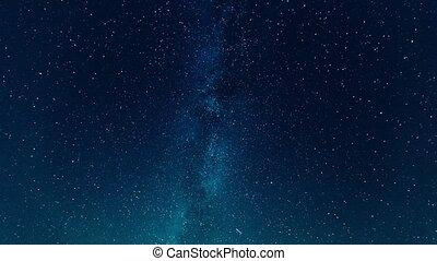 night starry sky timelapse video