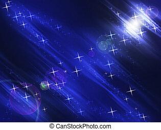 Night Stars Background - Night Stars and Lights Luminescent...
