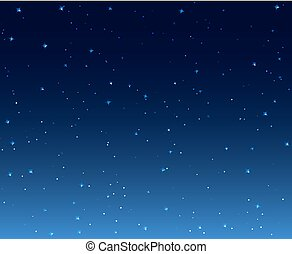 Night stars sky background illustration. Galaxy dark night...