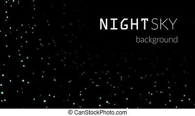 Night stars sky background  Night sky with white stars on black