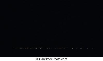 Night storm on the coast