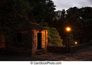 Night street in a residential area Manila