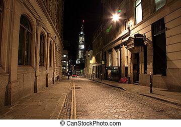 Night Street in London, UK