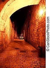 Night streets in jerusalem