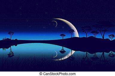 Night Summer Landscape