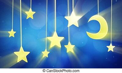 night time decoration moon stars