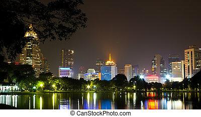 Night time in Bangkok