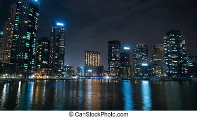 night time-lapse city view