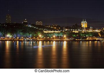 Night Time Lights of City