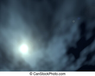Night Time Sky With Clouds