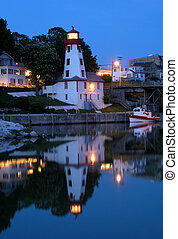 Night time. - Lighthouse in Kincardine during the night....