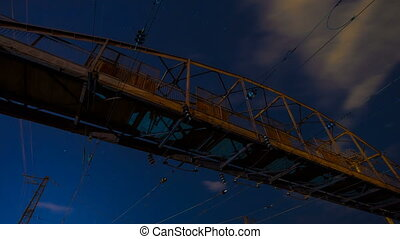 Night Timelape, old bridge