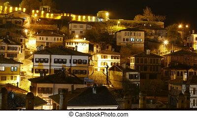 """Night Timelapse, Traditional Ottoman Anatolian Village, ..."