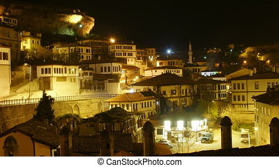 """Night Timelapse, Traditional Ottoman Anatolian Village,..."
