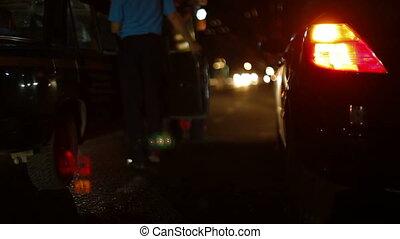 Night Traffic Accident