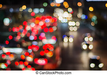Night traffic and car lights