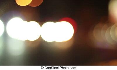 Night Traffic Circles Bokeh