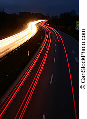 night traffic in denmark