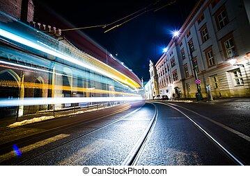 Night Traffic in Motion