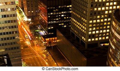Night Traffic in New York
