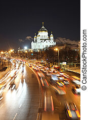traffic jam - Night traffic jam in Moscow