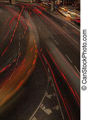 Night traffic light