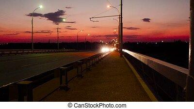 Night Traffic On Freeway