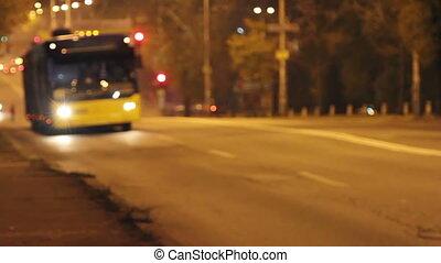 Night traffic road car