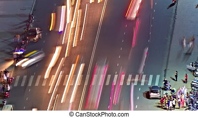 Night traffic timelapse