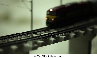 night train express miniature close to tilt film