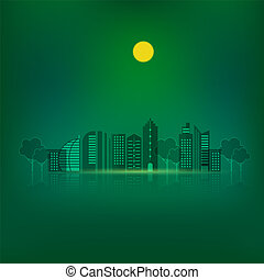 Night urban city design abstract background