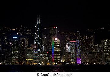 Night view at Hong Kong
