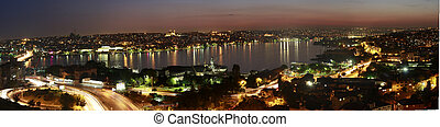 Night view - Colorful night view of city of istanbul