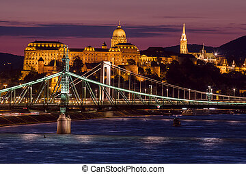 Night view of Budapest - Beautifil night view of...