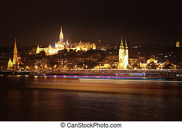 Night view of Budapest