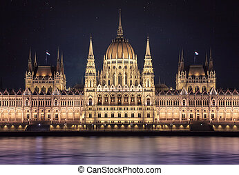Night view of Budapest parlament