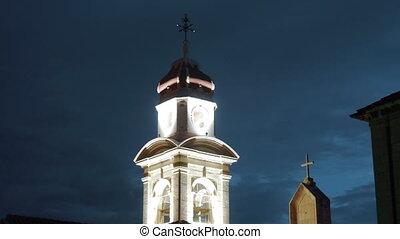Night view of Church of the Holy Cross in Split, Croatia.