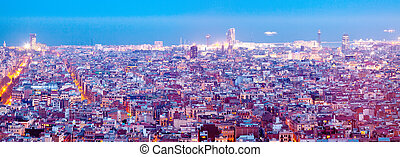 night view of city. Barcelona