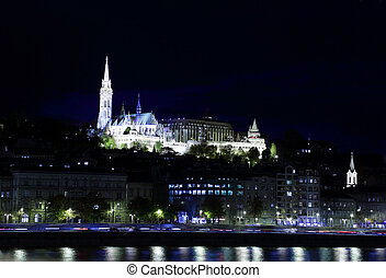 Fishermen's Bastion and Matthias Church, Budapest, Hungary -...