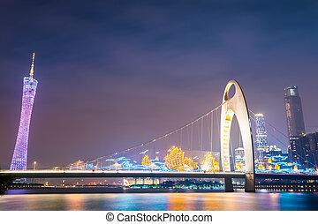 night view of guangzhou