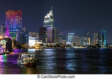 night view of Ho Chi Minh city