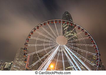 Night view of Hong Kong city