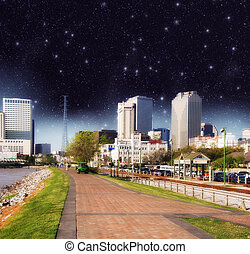 Night view of New Orleans skyline