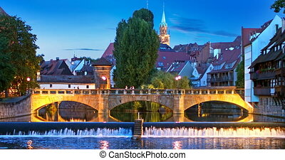 Night view of Nurnberg, Germany - Scenic summer night view...