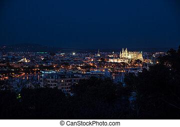 Night view of Palma de Mallorca