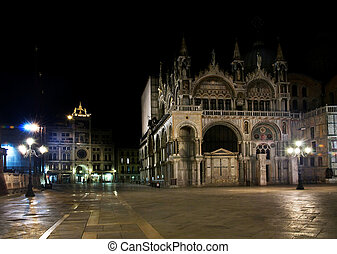 night view of Piazza San Marco. Venice, Italy